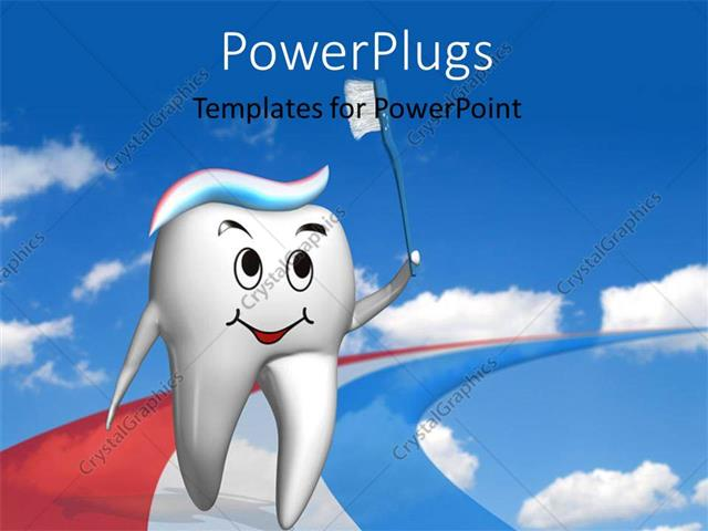 powerpoint template olympic tooth running on a multi color