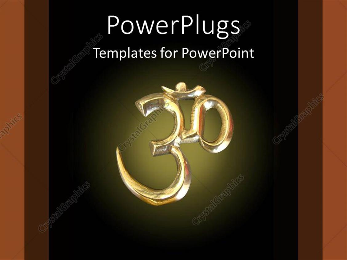 powerpoint template om symbol in gold on black background hinduism buddhism meditation 24940 powerpoint template om symbol in gold