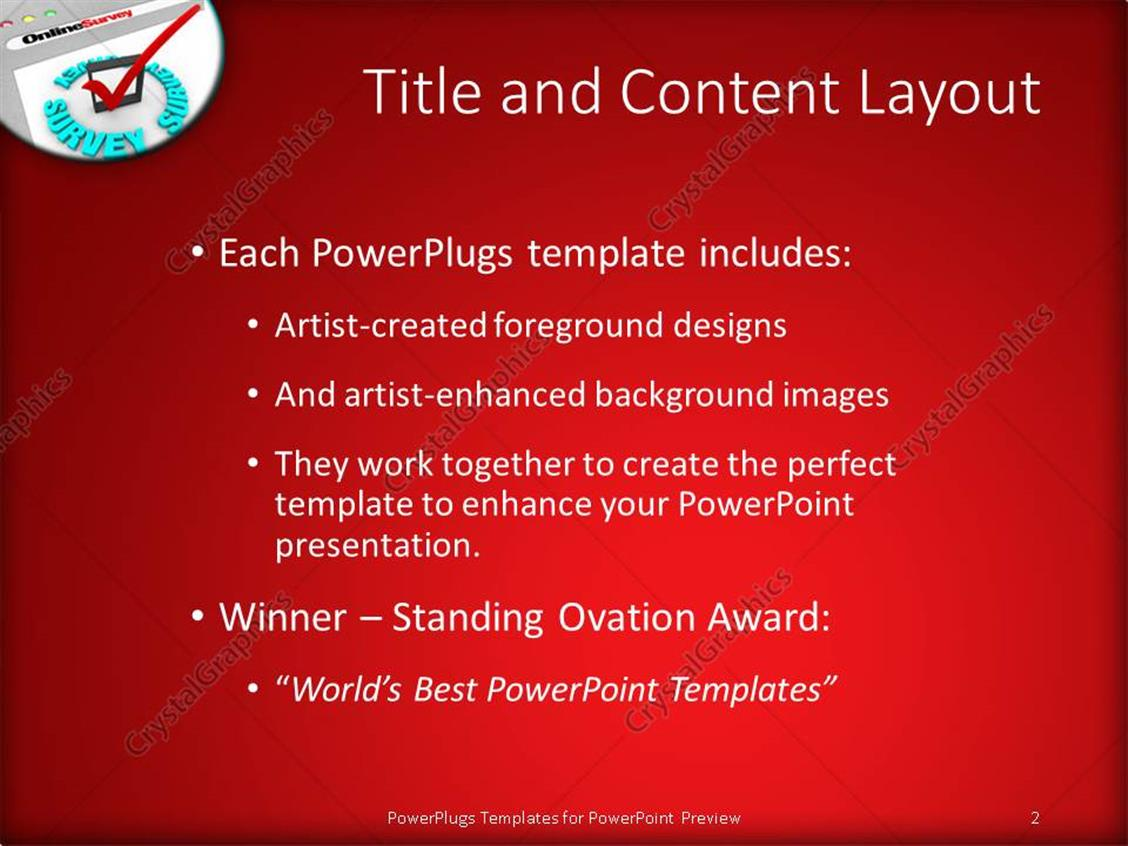 Powerpoint template the online survey and the check mark to powerpoint products templates secure alramifo Image collections