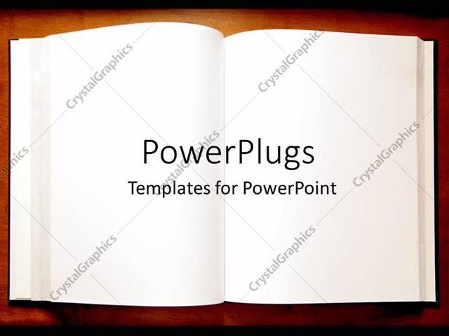 Powerpoint template an open book with blank pages as a metaphor powerpoint template displaying an open book with blank pages as a metaphor on a brown background toneelgroepblik Choice Image