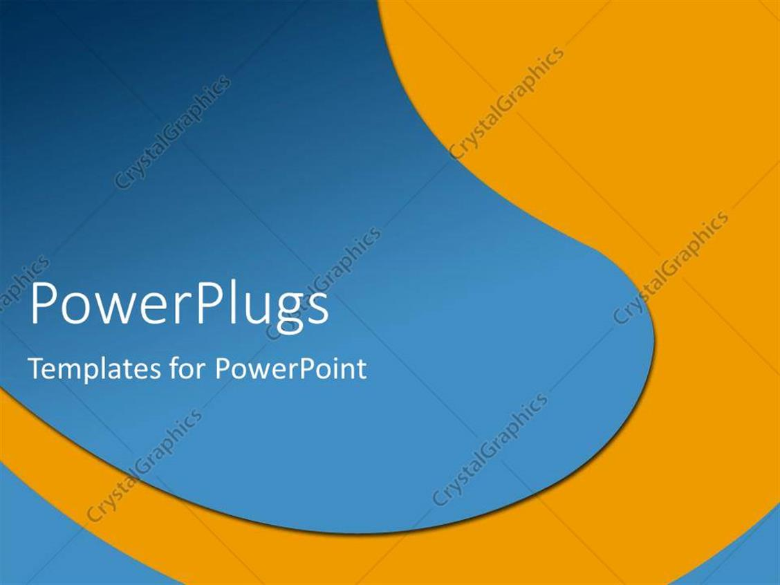 Powerpoint Template Orange And Blue River Metaphor Abstract 26323