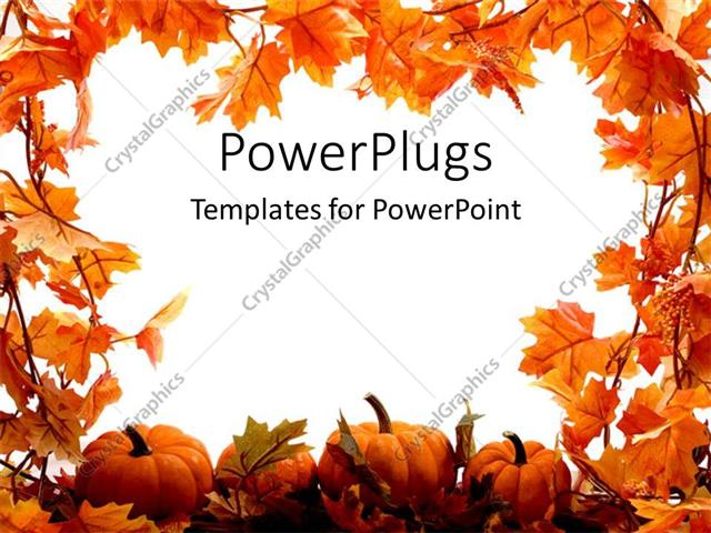 Powerpoint template orange pumpkins and leaves for autumn festival powerpoint template displaying orange pumpkins and leaves for autumn festival holidays on a white toneelgroepblik Gallery