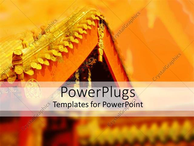 Powerpoint Template Oriental Architecture Depicting Oriental Styled