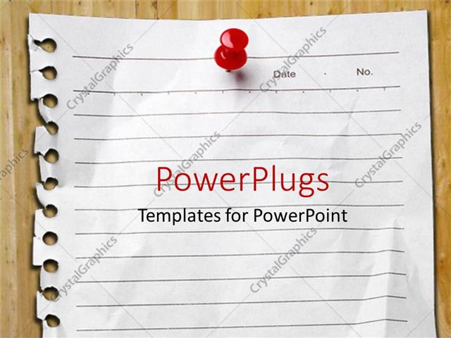 Powerpoint template page pulled from spiral notebook pinned to powerpoint template displaying page pulled from spiral notebook pinned to board with red pin toneelgroepblik Gallery
