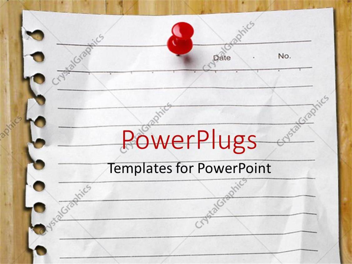 Powerpoint template page pulled from spiral notebook pinned to powerpoint template displaying page pulled from spiral notebook pinned to board with red pin alramifo Gallery