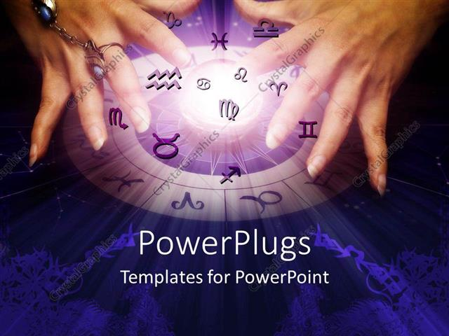Powerpoint template a pair of hands creating magic while all the powerpoint template displaying a pair of hands creating magic while all the zodiac signs are present toneelgroepblik Image collections