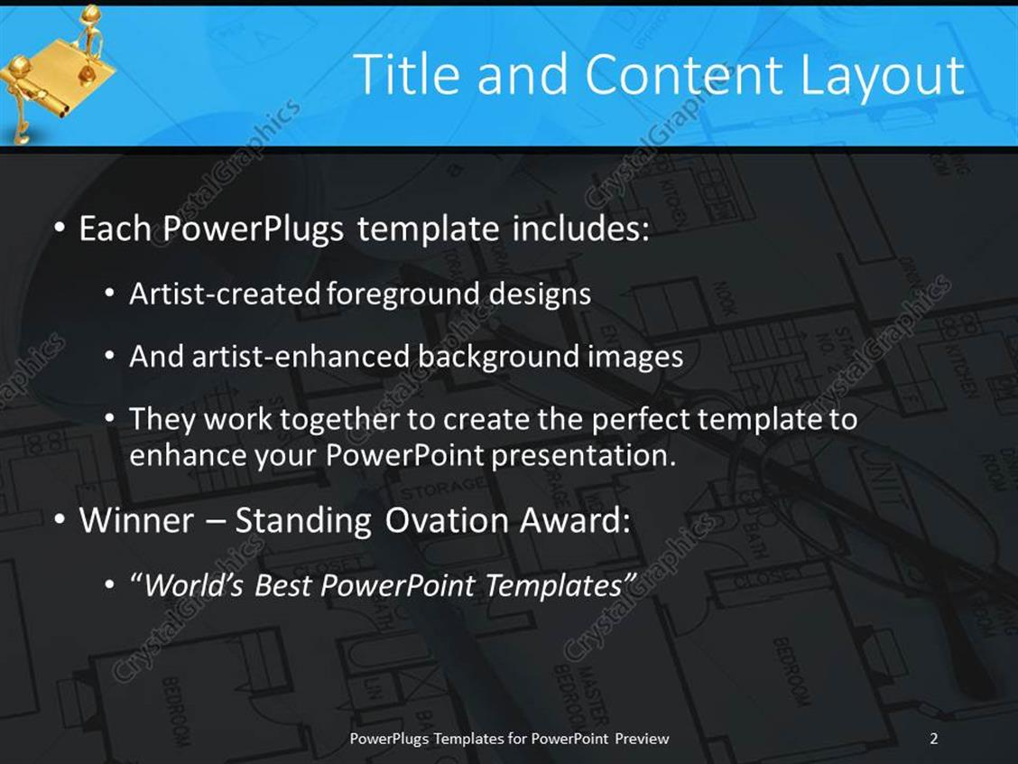 Powerpoint template pair of reading glasses on a building house powerpoint products templates secure malvernweather Images