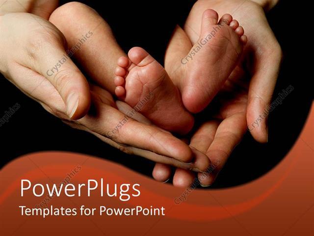 Powerpoint template parents hands holding baby infant legs feet powerpoint template displaying parents hands holding baby infant legs feet and toes newborn toneelgroepblik Choice Image