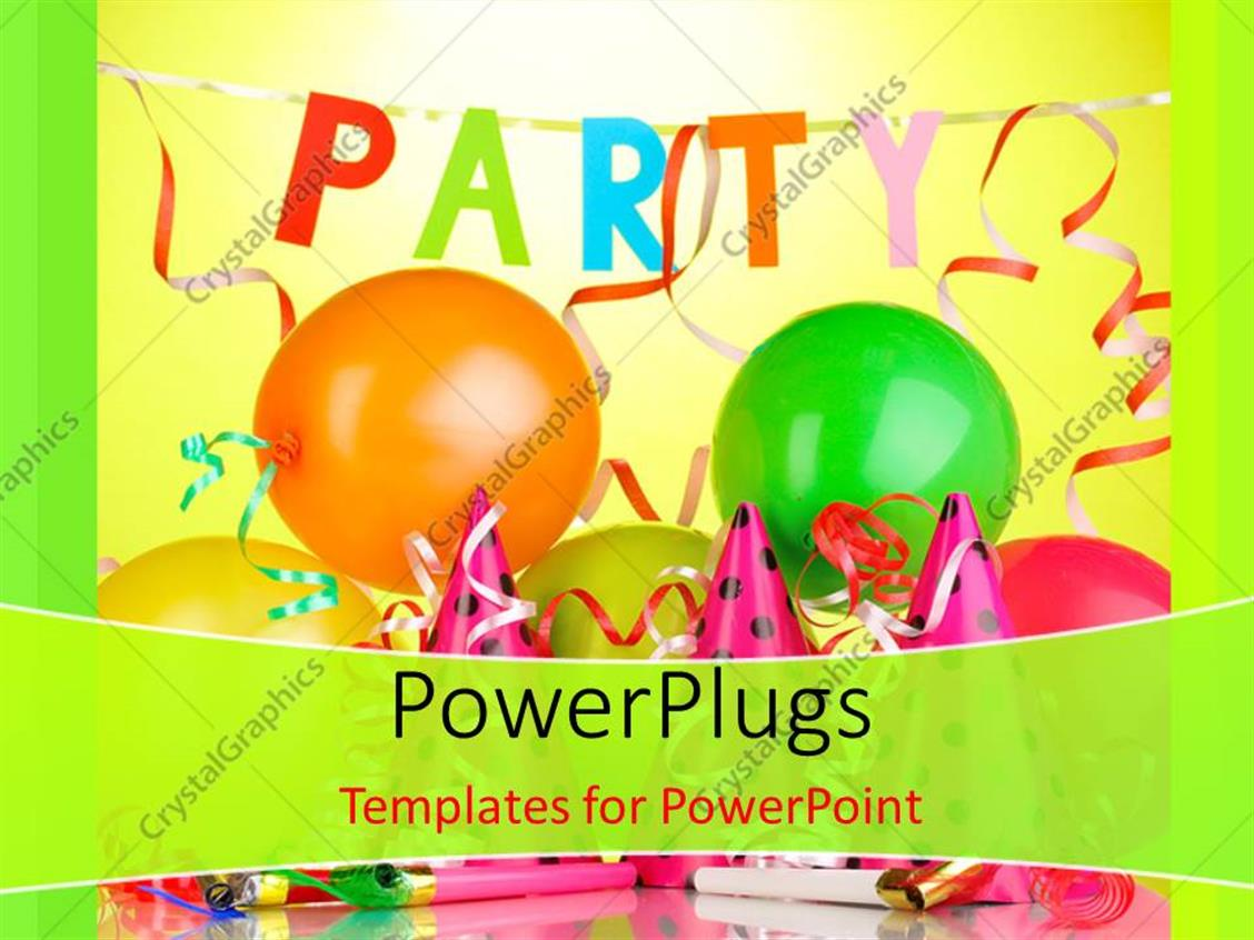 Powerpoint template party theme having balloons with lights and powerpoint template displaying party theme having balloons with lights and colors toneelgroepblik Images