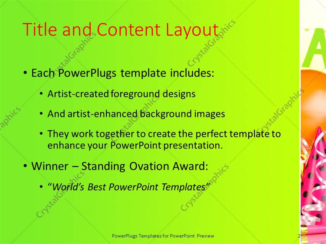 Powerpoint template party theme having balloons with lights and powerpoint products templates secure toneelgroepblik Image collections