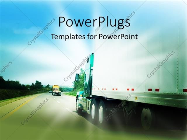 Powerpoint template passing a transportation truck on a highway 30179 powerpoint template displaying passing a transportation truck on a highway toneelgroepblik Choice Image