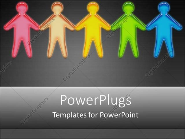 PowerPoint Template Displaying People Holding Hands Together Joining Diversity Victims