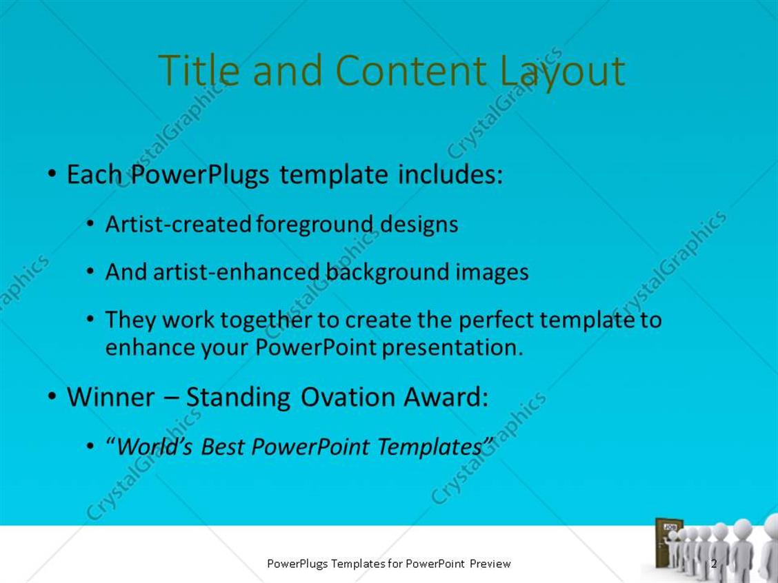 Powerpoint template people in a line waiting for job interview powerpoint products templates secure toneelgroepblik Image collections