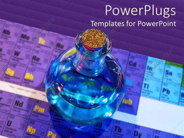 PowerPoint Template Displaying Periodic Chart For Chemistry Science