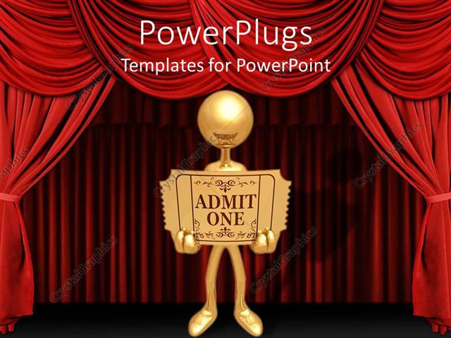 Powerpoint template a person holding a card with stage in the powerpoint template displaying a person holding a card with stage in the background toneelgroepblik Choice Image