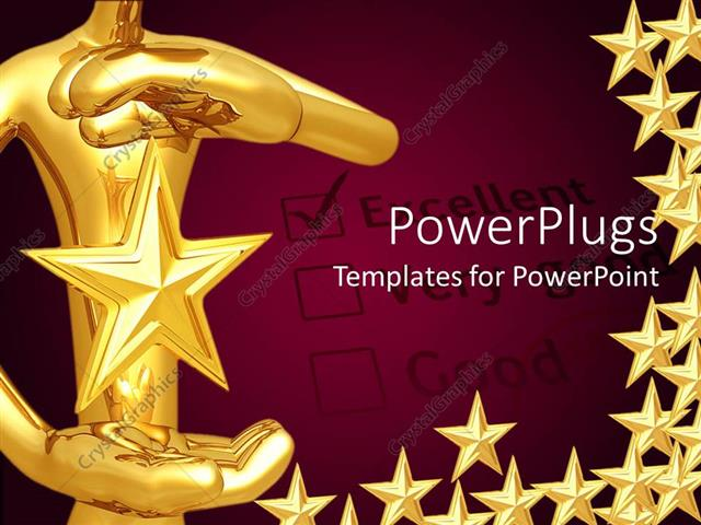 Powerpoint Template A Person Holding The Star With Purple
