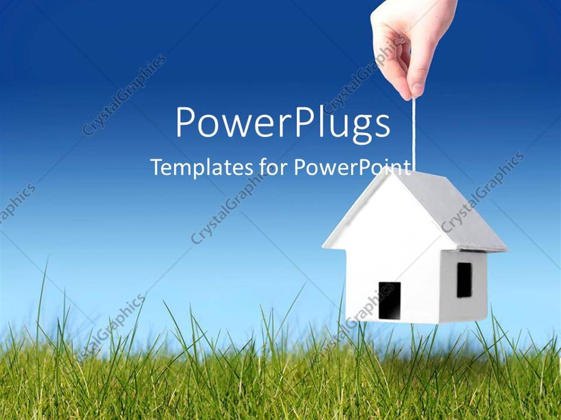 PowerPoint Template: a person picking the house with the