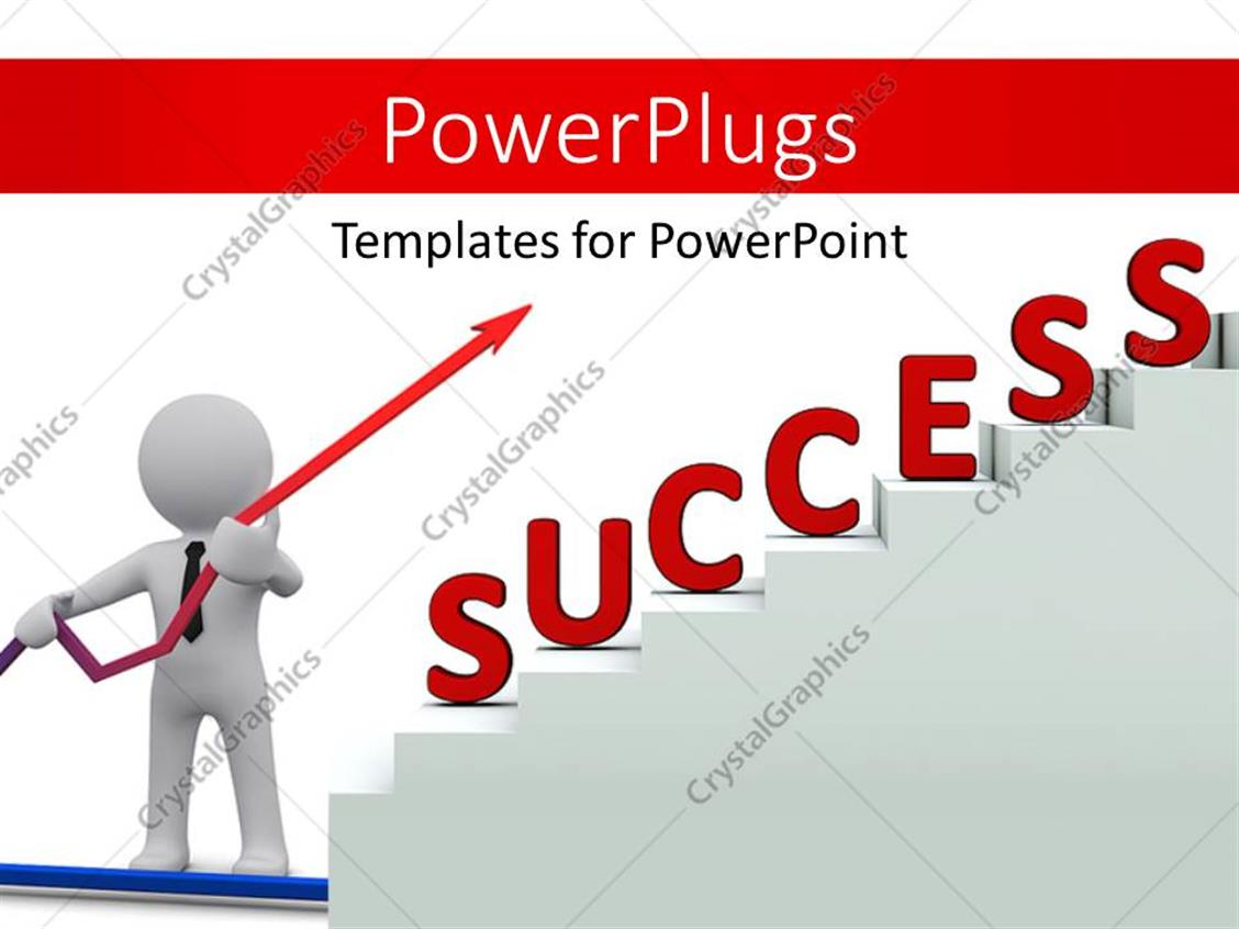 Powerpoint template a person pointing towards the success 27752 powerpoint template displaying a person pointing towards the success alramifo Gallery