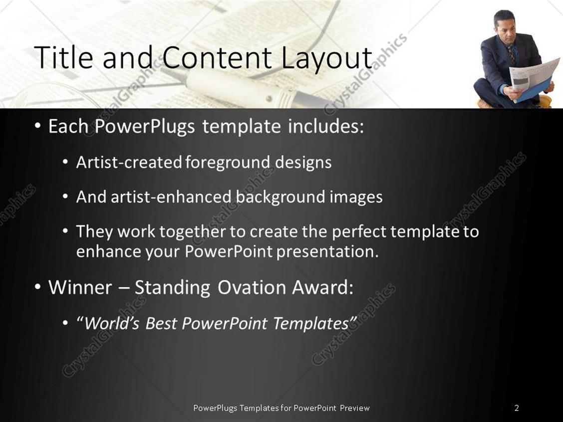 Powerpoint template a person reading a newspaper with newspaper powerpoint products templates secure alramifo Image collections