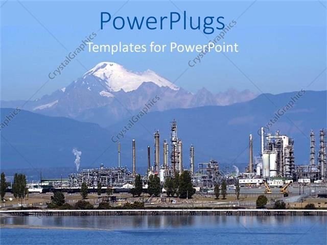 Powerpoint template petrochemical industry petrochemical powerpoint template displaying petrochemical industry petrochemical industrial plant with snowy tip toneelgroepblik Images