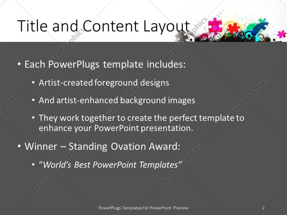PowerPoint Template: Pile of jigsaw puzzle pieces in various colors ...