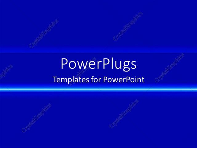 powerpoint template plain blue gradient with neon line 213