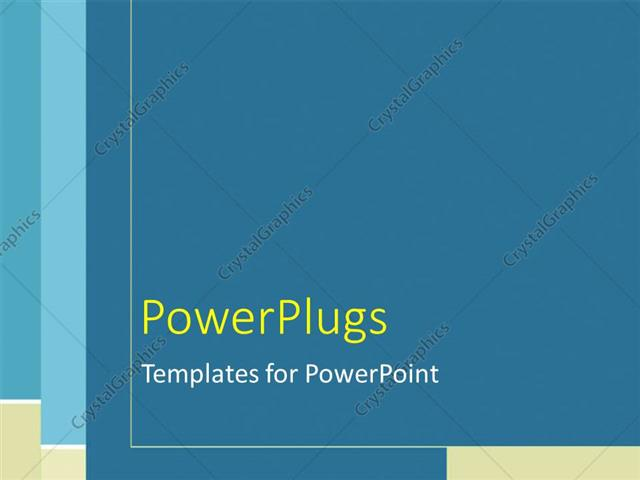 Powerpoint Template Plain Blue Tan And White Line Pattern 3652