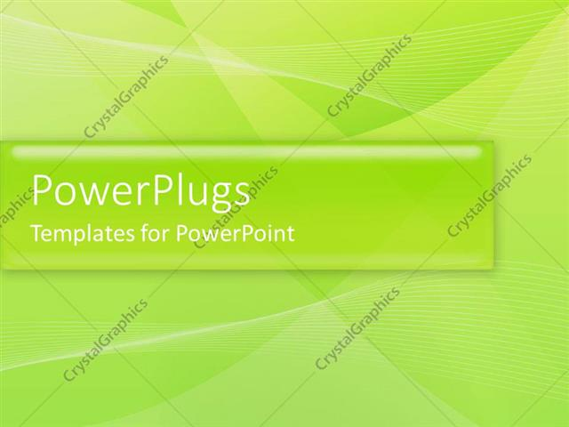 PowerPoint Template: a plain leaf green background with some wavy