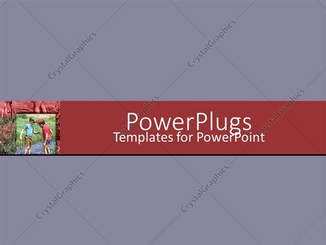 PowerPoint Template Displaying a Plain Light Purple Background with a Red Middle Strip