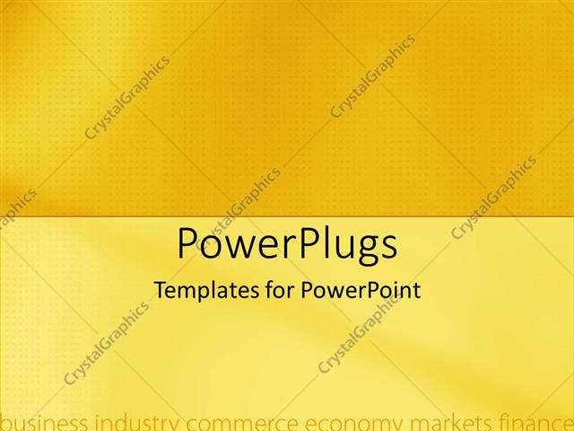 Powerpoint Template A Plain Yellow Background With Business And