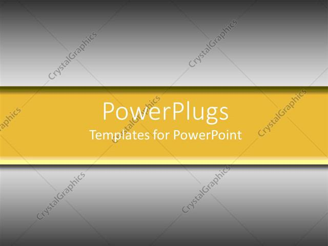 PowerPoint Template Displaying Plain Yellow Banner on Gray Background