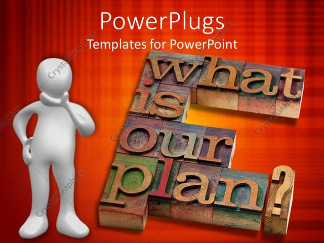 PowerPoint Template Displaying what is our Plan for Business Models and Strategy on Red Background