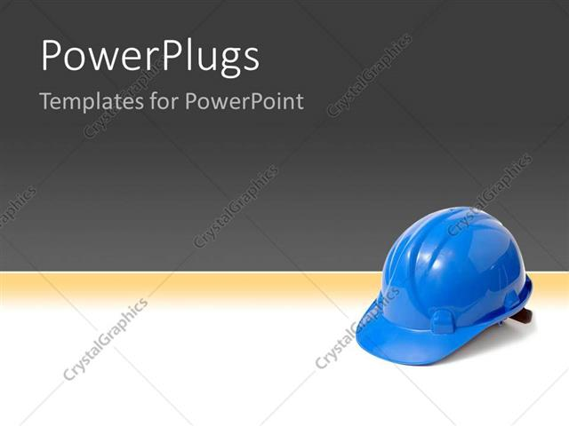 Powerpoint template plastic blue safety helmet over a background powerpoint template displaying plastic blue safety helmet over a background toneelgroepblik Choice Image