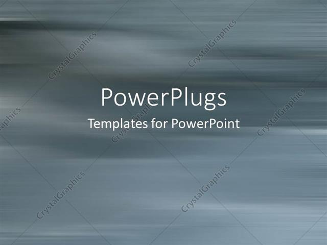 PowerPoint Template: Play gray motion blur background, no