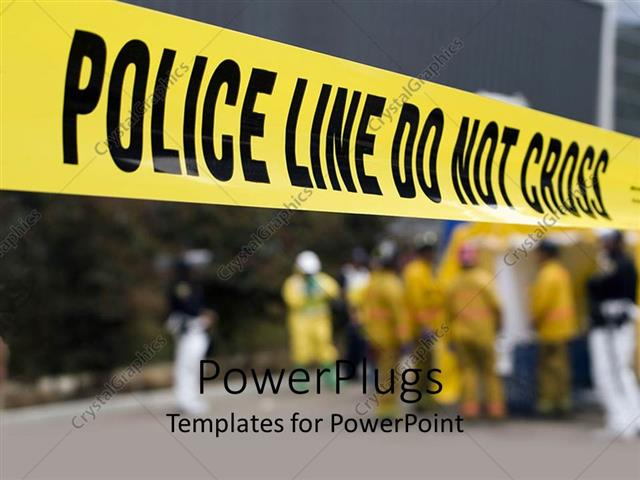 Powerpoint template police do not cross line for demarcation at powerpoint template displaying police do not cross line for demarcation at crime scene toneelgroepblik Image collections