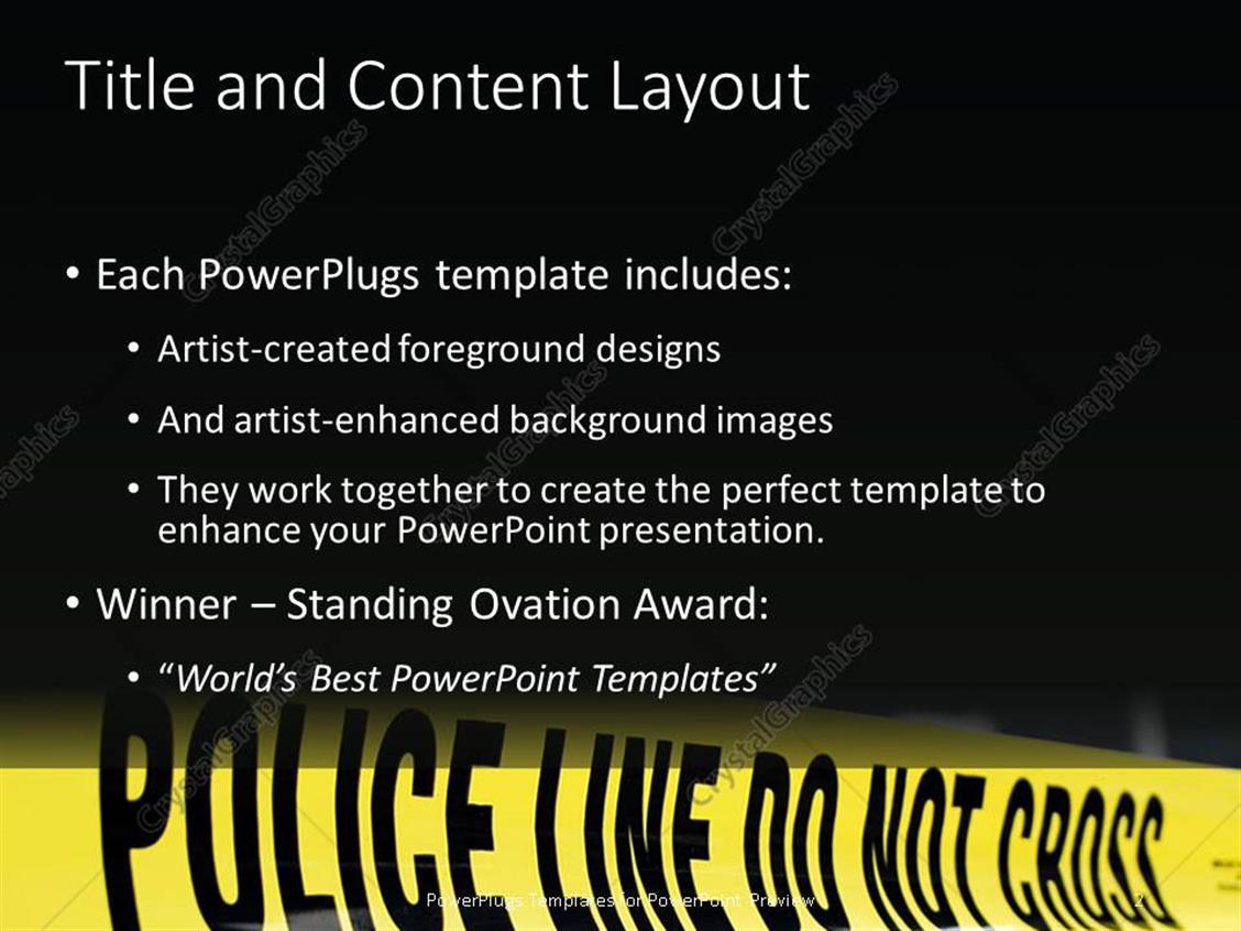 Powerpoint template police do not cross line for demarcation at powerpoint products templates secure toneelgroepblik Images