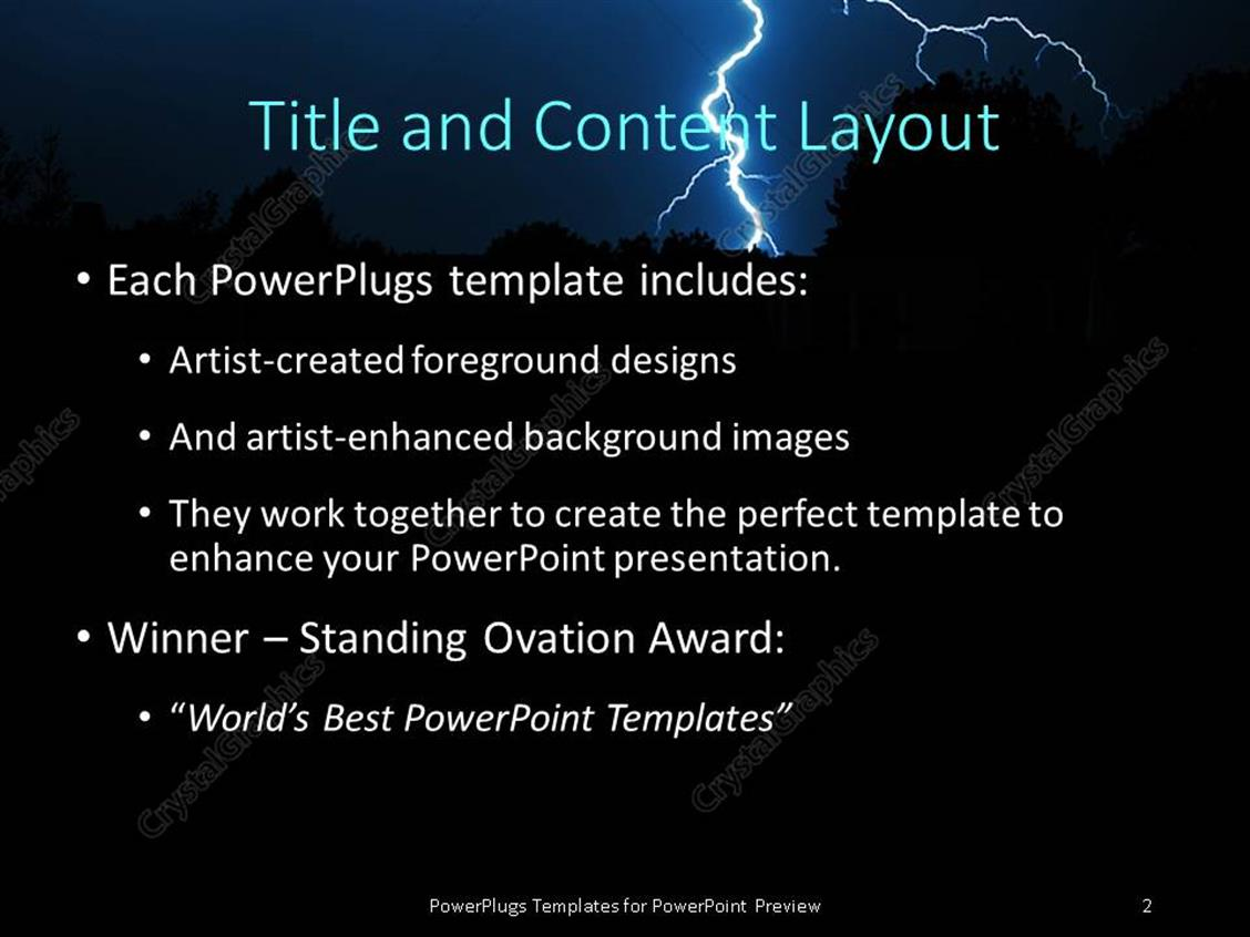 Powerpoint template powerful lightning strike in the darkness powerpoint products templates secure toneelgroepblik Choice Image