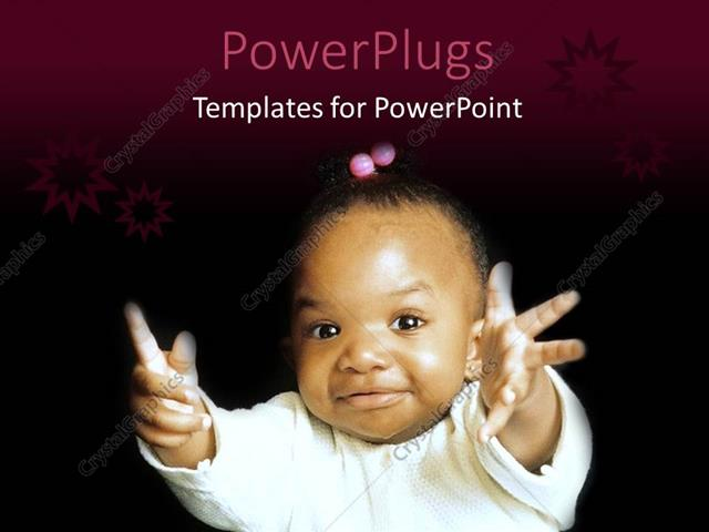Powerpoint template a pretty african american baby on a black powerpoint template displaying a pretty african american baby on a black background toneelgroepblik Choice Image