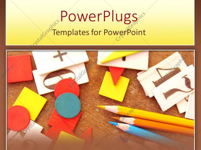 Powerpoint template primary education learning materials colored powerpoint template displaying primary education learning materials colored pencils and number boards toneelgroepblik Images