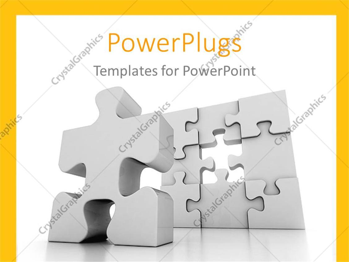 PowerPoint Template: Problem solving metaphor with one piece left in ...