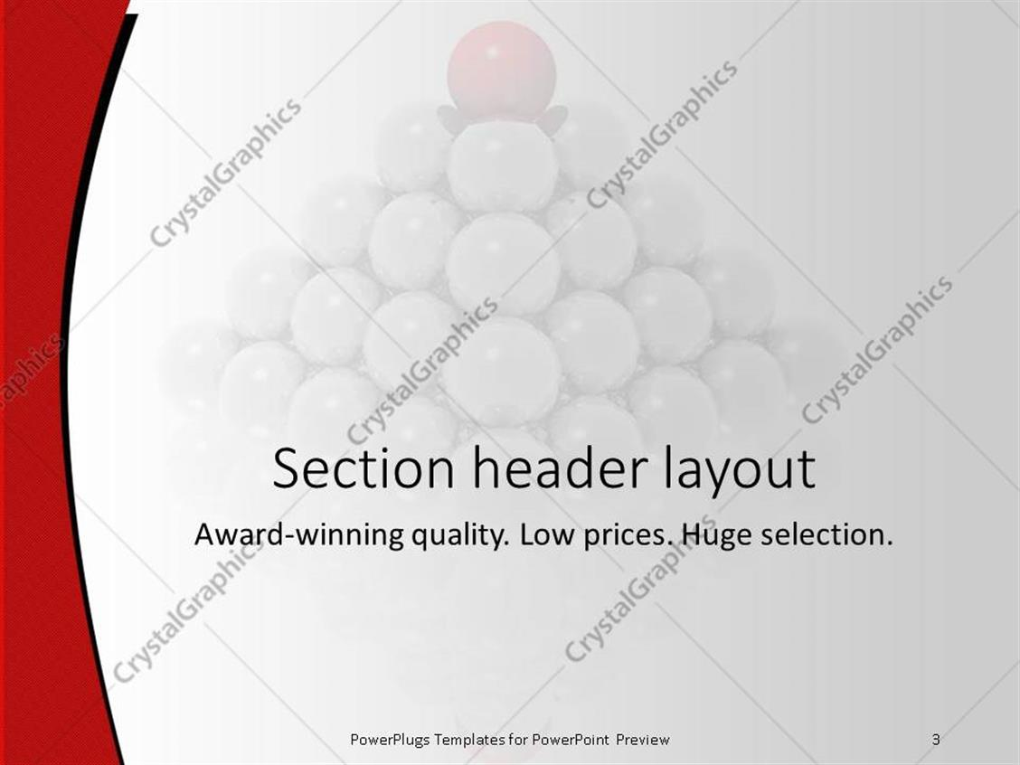 PowerPoint Template: pyramid made of glowing gray spheres and red ...