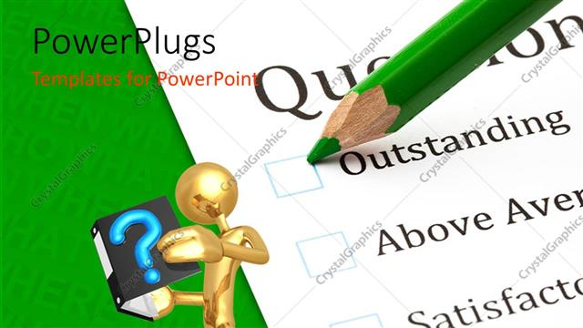 Powerpoint template questionnaire check boxes with green crayon powerpoint template displaying questionnaire check boxes with green crayon close up and human toneelgroepblik Images