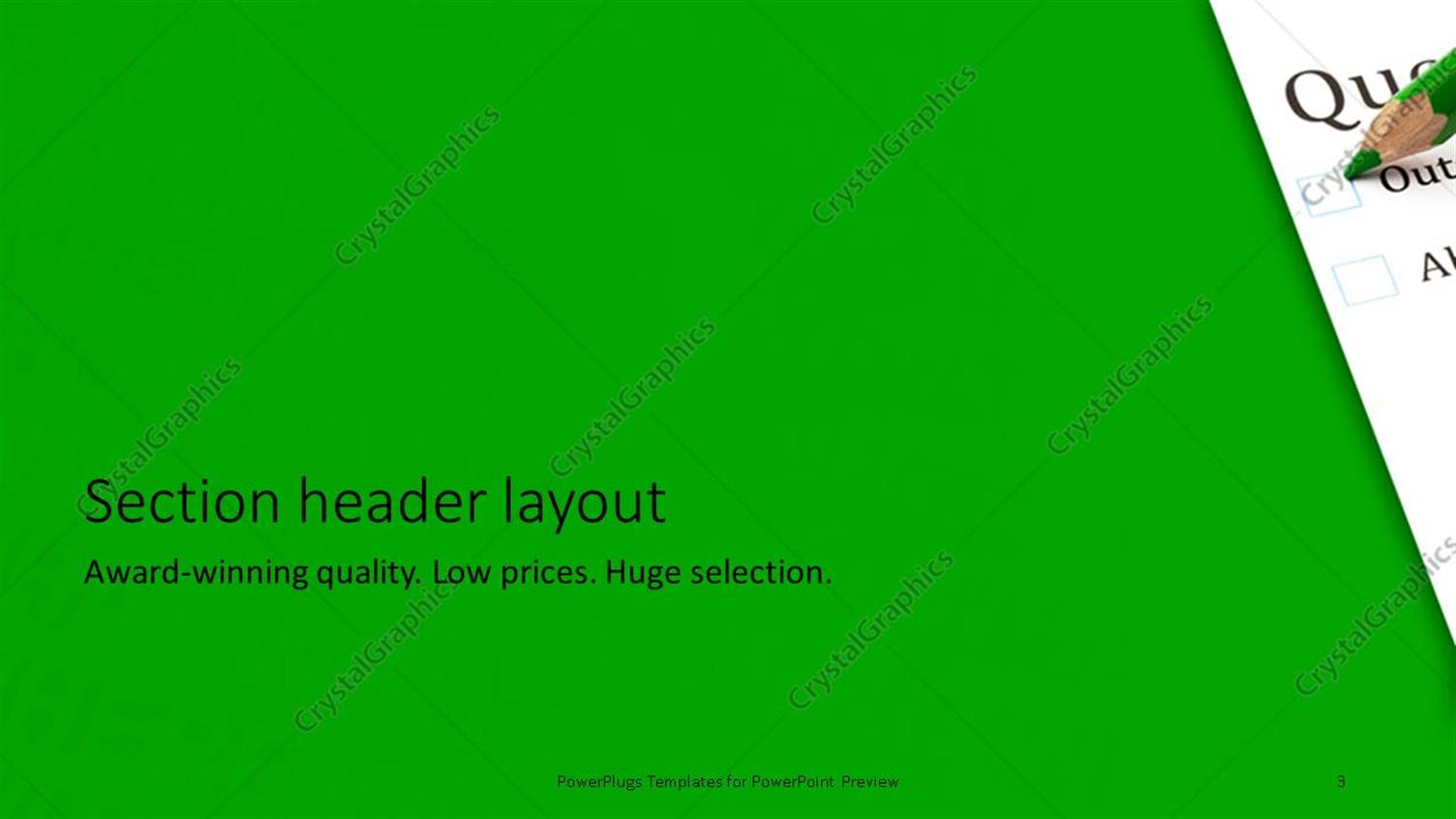 Powerpoint template questionnaire check boxes with green crayon powerpoint products templates secure toneelgroepblik Image collections