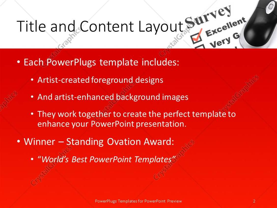 Powerpoint template questionnaire and computer mouse close up powerpoint products templates secure toneelgroepblik Images