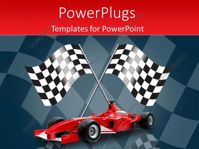 Powerpoint template racing flags in background with red formula one powerpoint template displaying racing flags in background with red formula one car toneelgroepblik Images
