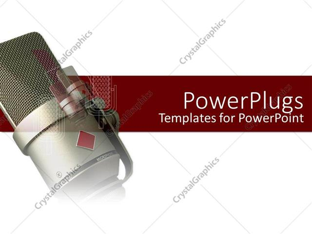 Powerpoint template a radio microphone with a white and red powerpoint template displaying a radio microphone with a white and red background toneelgroepblik Choice Image