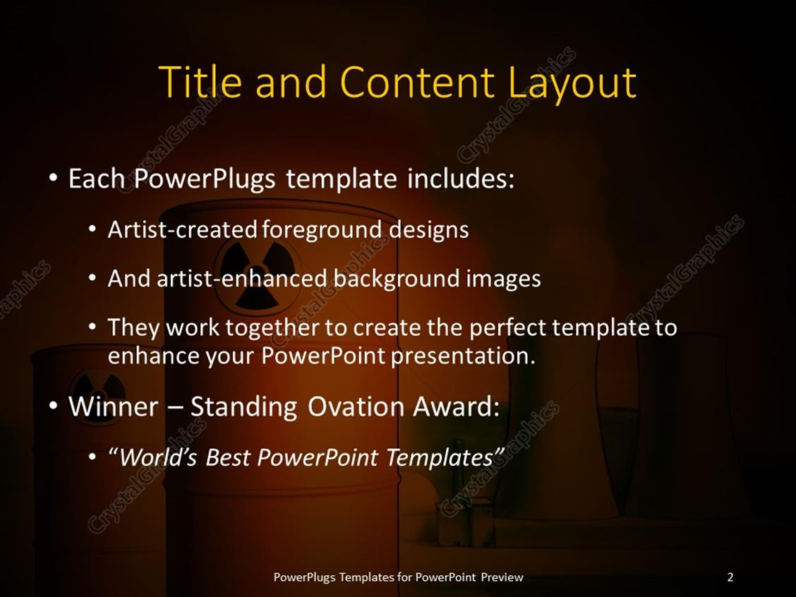 Powerpoint template radioactive waste from a nuclear power plant powerpoint products templates secure toneelgroepblik Choice Image