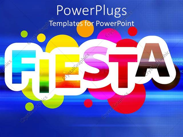 Powerpoint Template Rainbow Colored Colorful Fiesta Word