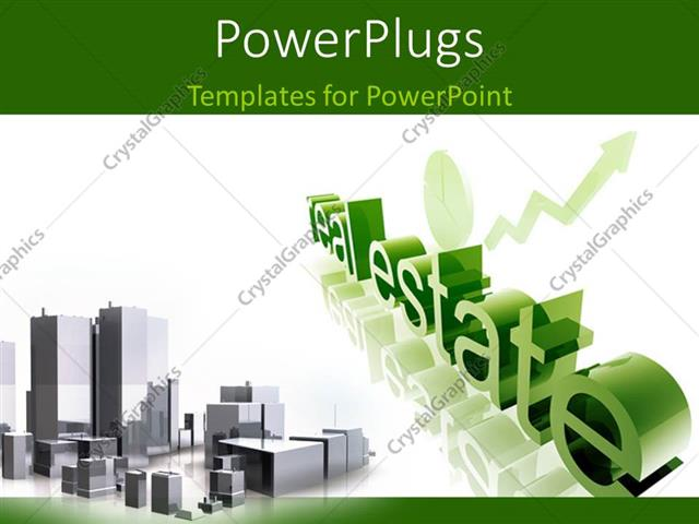 Powerpoint template real estate economy trend concept depiction powerpoint template displaying real estate economy trend concept depiction improving upwards with toneelgroepblik Choice Image