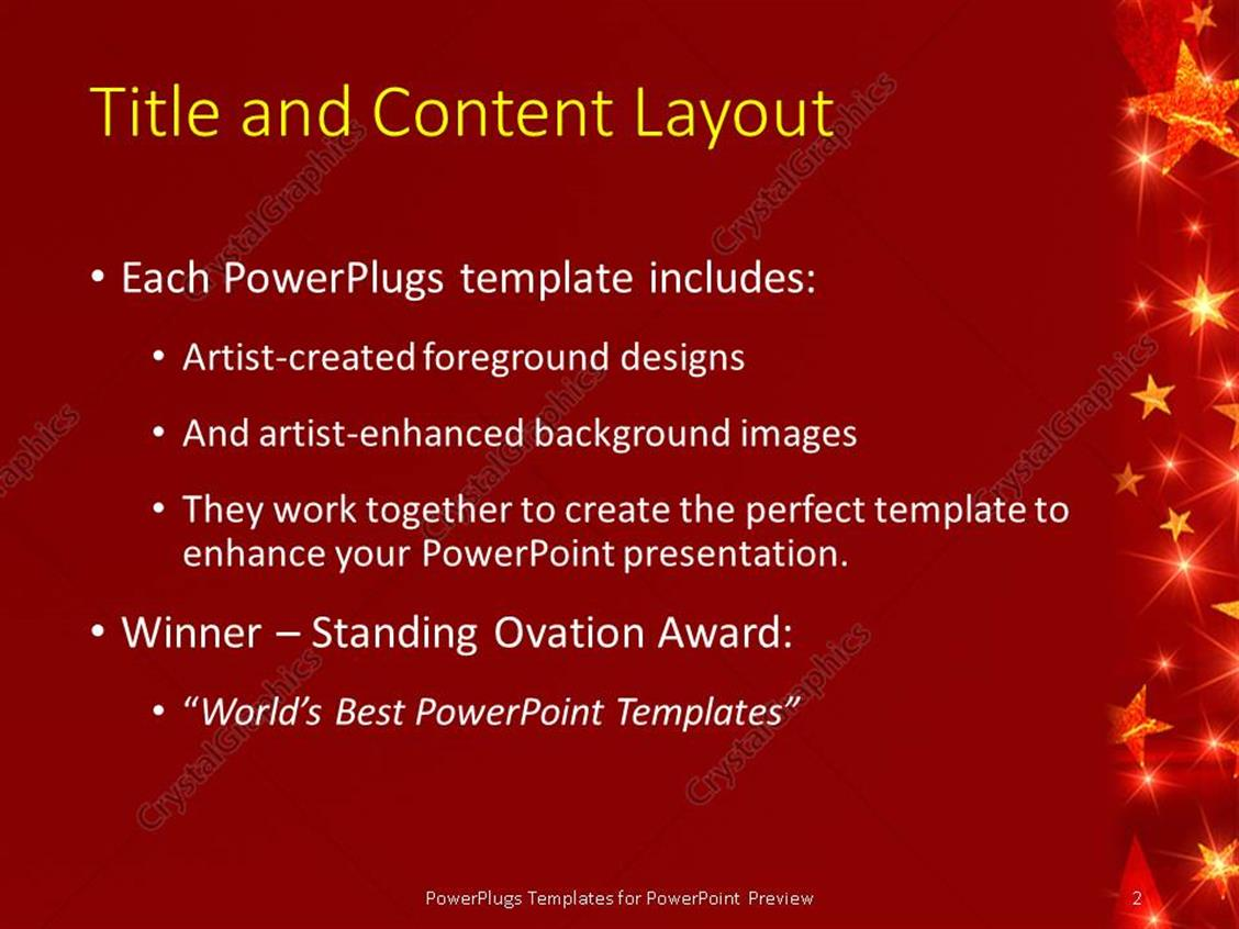 Powerpoint template red celebration background with glowing stars powerpoint products templates secure alramifo Choice Image